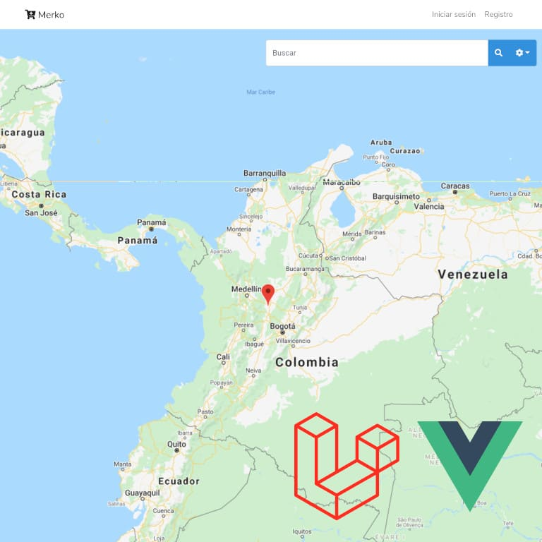 Merko is a product and vendors small search engine using maps, this helps to connect customers and sellers. The application is written with PHP and Javascript.